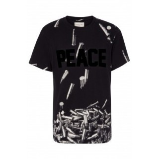 MAGLIETTA ELEVEN PARIS T-SHIRT PEACE Black