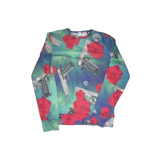 FELPA GIROCOLLO IMPURE SWEATSHIRT CREWNECK GALAXY All Over stg