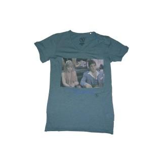 MAGLIETTA BOOM BAP T-SHIRT SCARPACINO V-NECK Mixed Mallard Blue