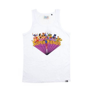 CANOTTA UPPER PLAYGROUND TANK TOP SUPER FRIENDS White stg