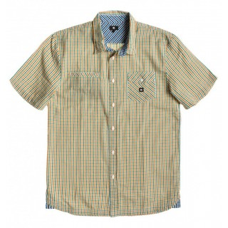 CAMICIA DC SHOES SHIRT S/S BLUE ORCHID Bottle Green stg