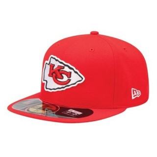 CAPPELLO FITTED NEW ERA CAP FITTED NFL ON-FIELD KANSAS CITY CHIEFS Game Red stg