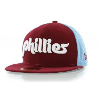 010b04714e1 CAPPELLO FITTED NEW ERA CAP FITTED MLB PHILADELPHIA PHILLIES COOPERSTOWN  COLLECTION COOPWORD Burgundy. ‹ ›