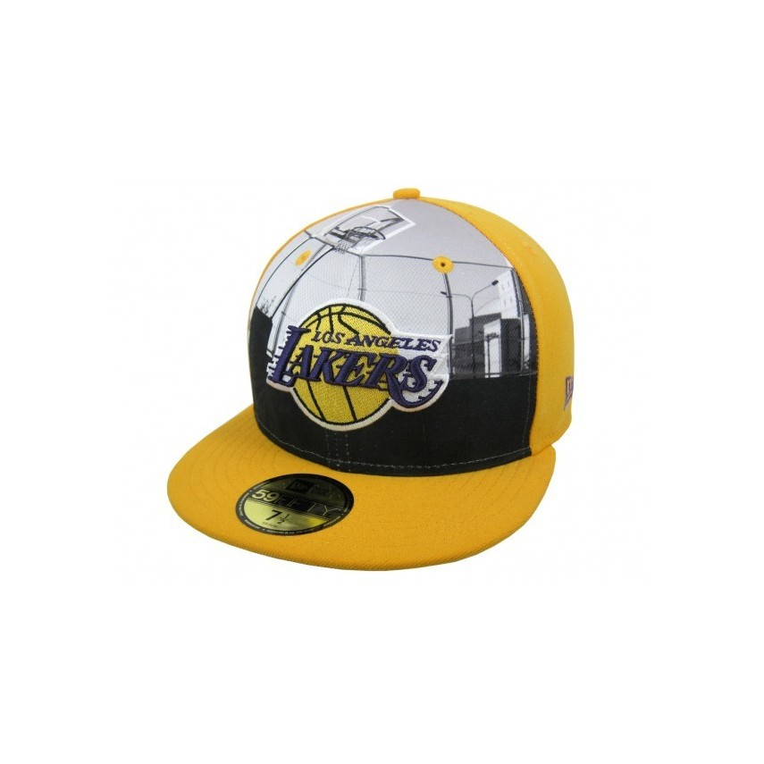 CAPPELLO FITTED NEW ERA CAP FITTED NBA LOS ANGELES LAKERS ROUND DWAY Yellow  stg. ‹ › 50281d0ad7fc
