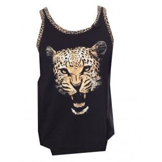 CANOTTA WRUNG TANK TOP LEO Black/Leopard