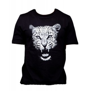 MAGLIETTA WRUNG T-SHIRT ANIMAL INSTINCT Black/SnowLeopard