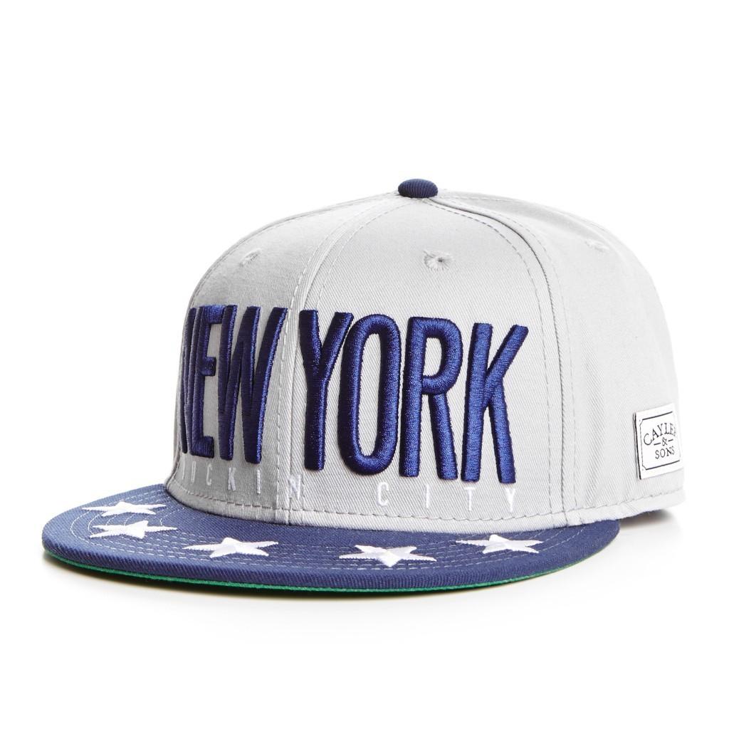 CAPPELLO SNAPBACK CAYLER SONS CAP SNAPBACK NY CITY GREY DEEP Navy White  unico 099a355dd63