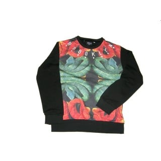 FELPA GIROCOLLO BROOKLYN HAZE SWEATSHIRT CREWNECK SNAKE CHEST All Over