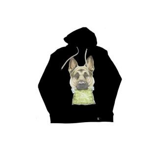 FELPA CAPPUCCIO UPPER PLAYGROUND SWEATSHIRT HOODIE NARCO DOG Black