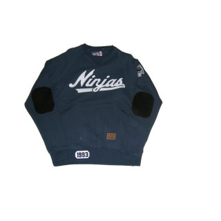 FELPA GIROCOLLO ROCKSMITH SWEATSHIRT CREWNECK NINJA LEAGUE Navy
