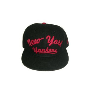 CAPPELLO STRAPBACK NEW ERA CAP STRAPBACK MLB NEW YORK YANKEES ARCH V Black/Red stg