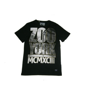 MAGLIETTA ZOO YORK T-SHIRT MCMXCII BRIDGE Black/Grey/Gold