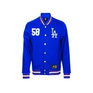 FELPA GIROCOLLO MAJESTIC SWEATSHIRT VARSITY MLB LOS ANGELES DODGERS Northover Blue