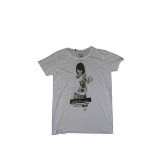 MAGLIETTA BOOM BAP T-SHIRT U NECK WARM White stg