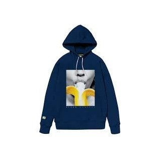 FELPA CAPPUCCIO SPACE MONKEYS SWEATSHIRT HOODIE BANANA Patriot Blue