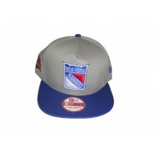 CAPPELLO SNAPBACK NEW ERA CAP SNAPBACK NHL NEW YORK RANGERS A-FRAME TONE Grey/Royal stg