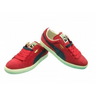 SCARPA BASSA PUMA SHOES SUEDE CLASSIC RIBBON Red/InsigniaBlue stg