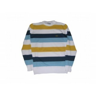 MAGLIONE WRUNG SWEATER Stripes White/Yellow/LightBlue/Navy stg
