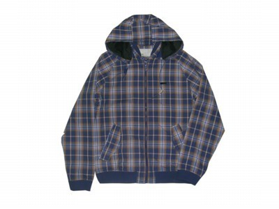 GIUBBOTTO WESC JACKET ZIP CHECK Blue Orange unico  aa186661313e