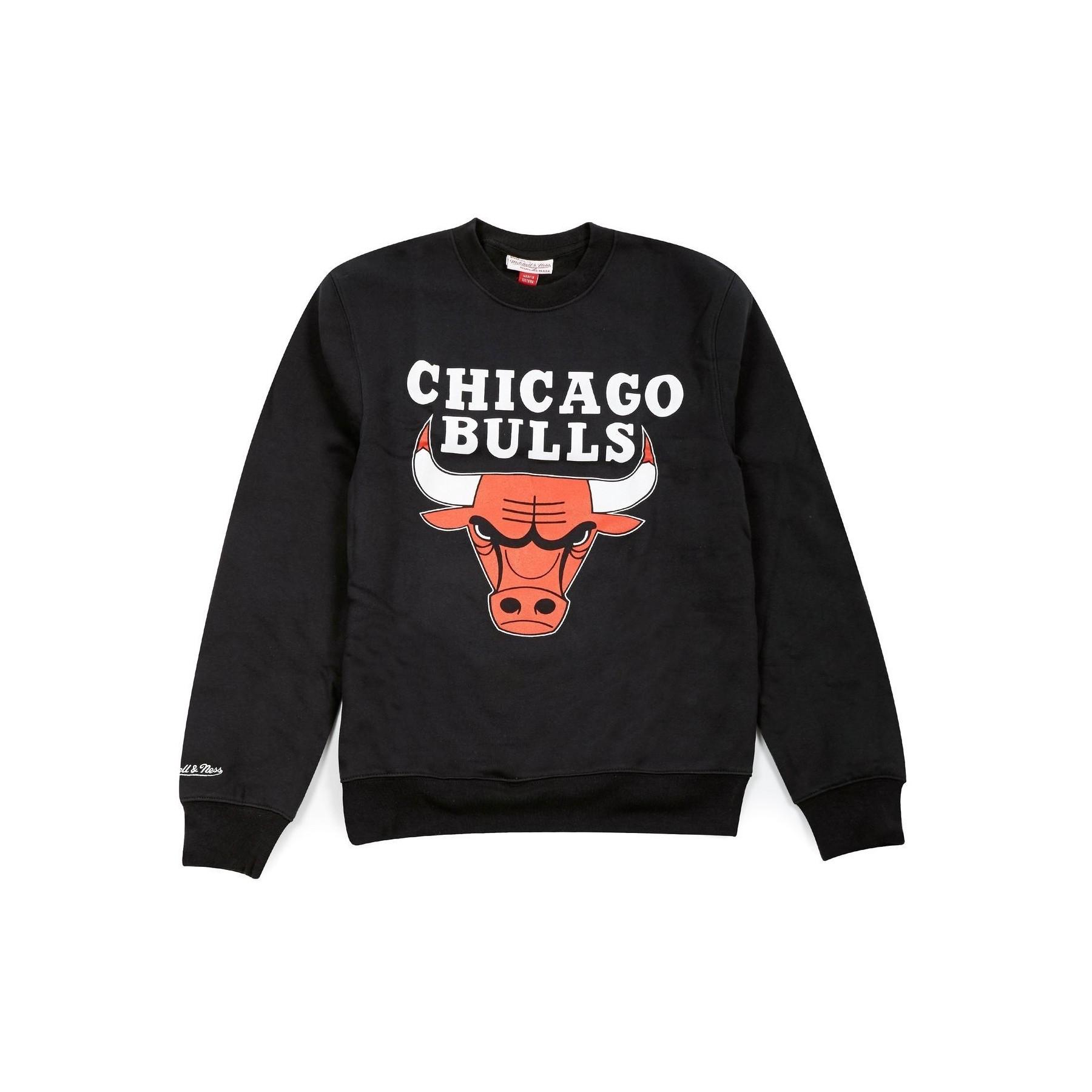 miglior valore 36de6 1e7c3 FELPA GIROCOLLO CHICAGO BULLS TEAM LOGO CREW NERO | Atipicishop.com