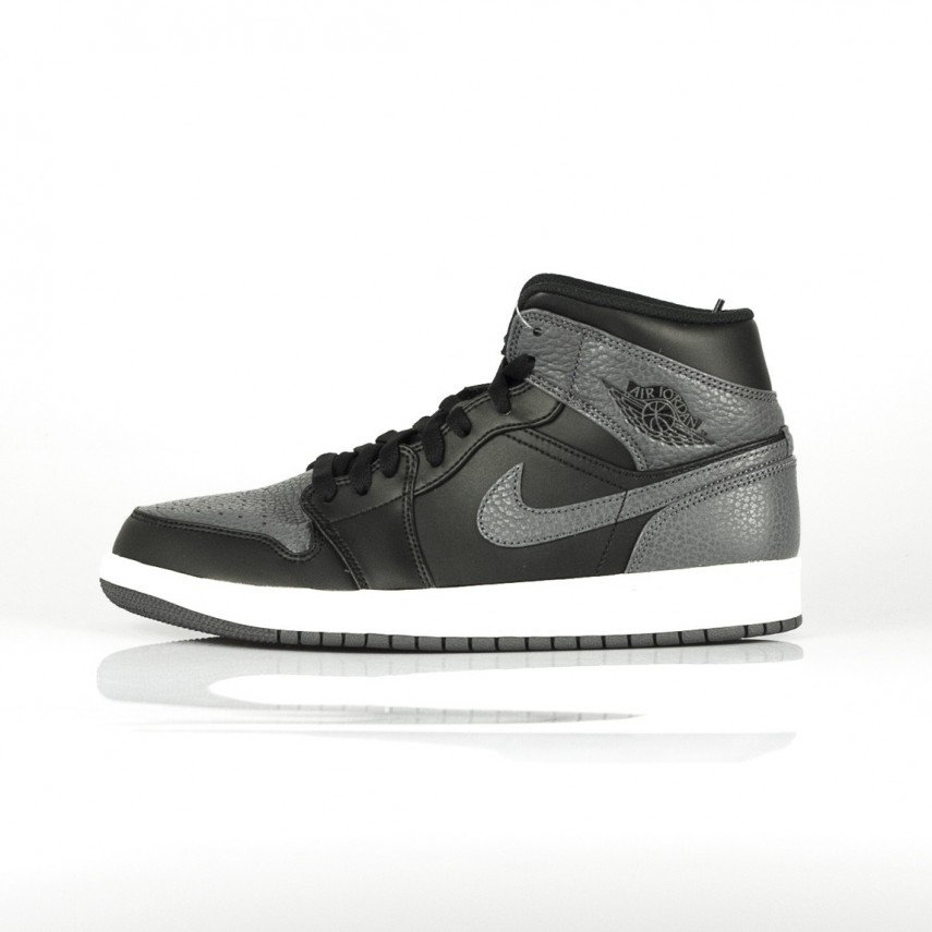 SCARPA ALTA AIR JORDAN 1 MID BLACK DARK GREY SUMMIT WHITE ... 76745275e