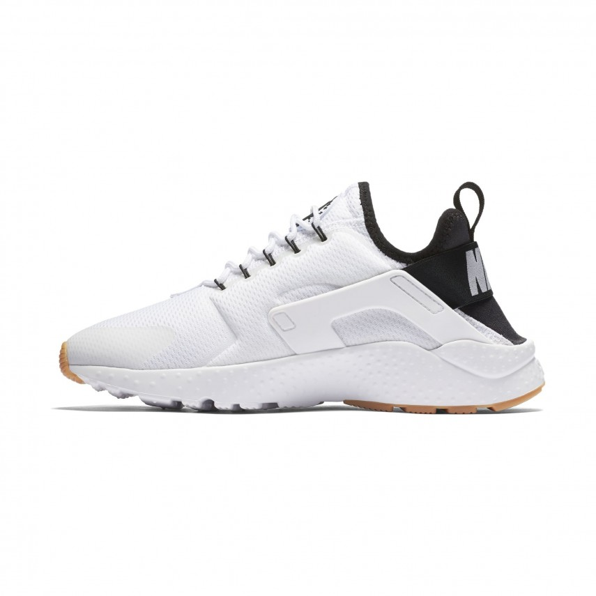 7d69aa3c20c SCARPA BASSA W AIR HUARACHE RUN ULTRA BIANCO NERO