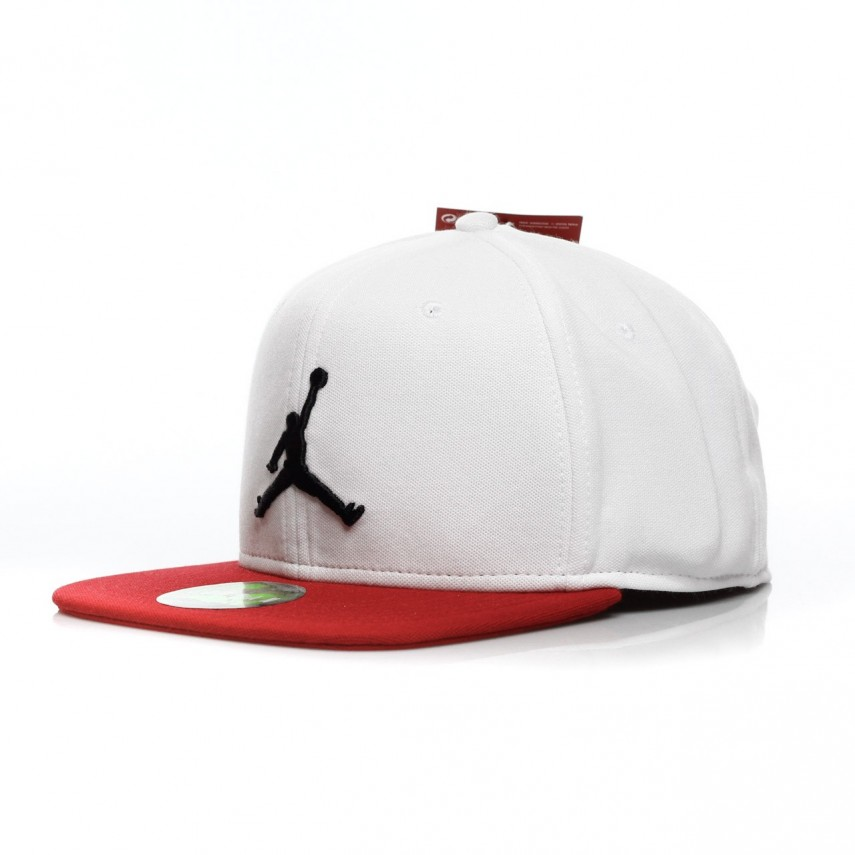67e9d7f9 CAPPELLO SNAPBACK JUMPMAN SNAPBACK WHITE/GYM RED/BLACK | Atipicishop.com