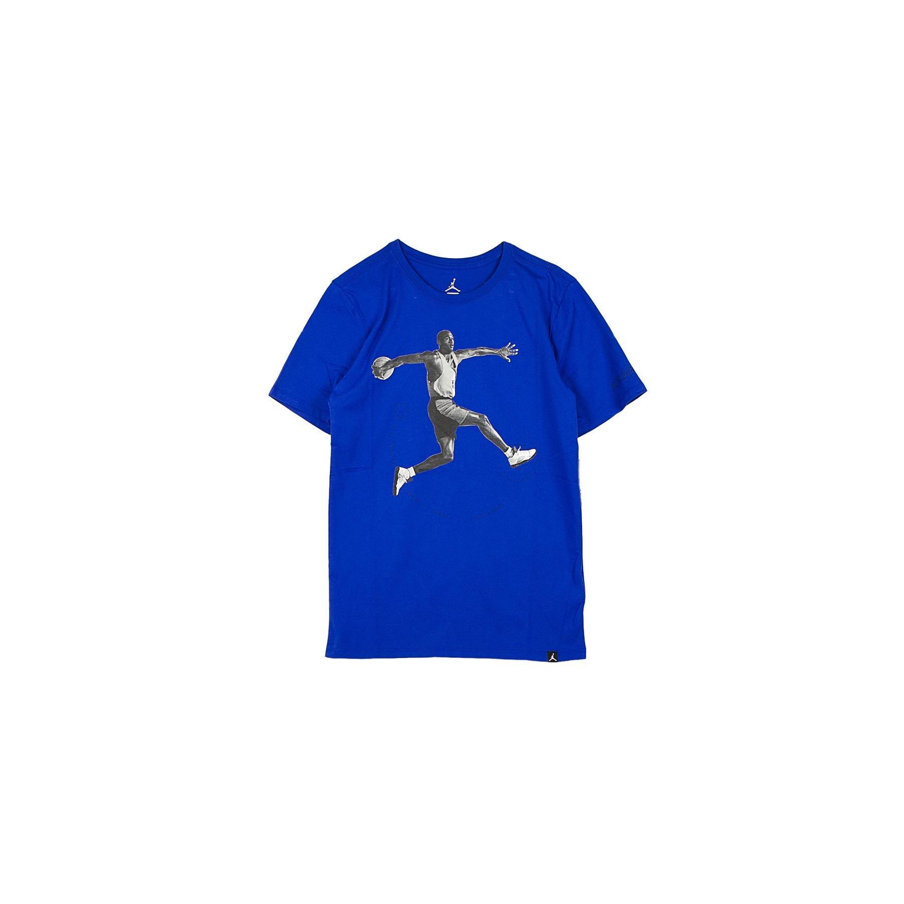 5354f05a98aaa0 MAGLIETTA AIR JORDAN 5 T-SHIRT BLUE