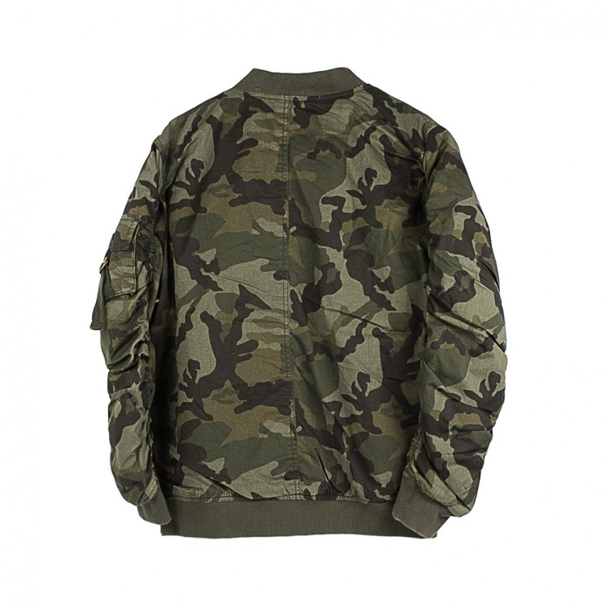 new styles 5c90a e7f28 GIUBBOTTO BOMBER VINTAGE CAMO COTTON BOMBER JACKET WOOD CAMO