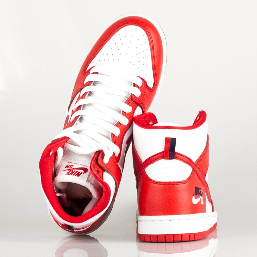 low priced 7d784 4784a SCARPA ALTA NIKE SB ZOOM DUNK HIGH PRO UNIVERSITY RED/UNIVERSITY RED