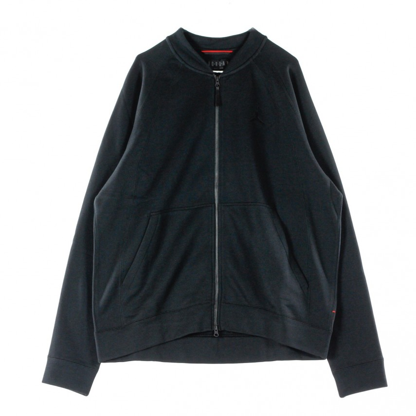 3353d33f0c67 FELPA GIROCOLLO WINGS FLEECE BOMBER JKT BLACK