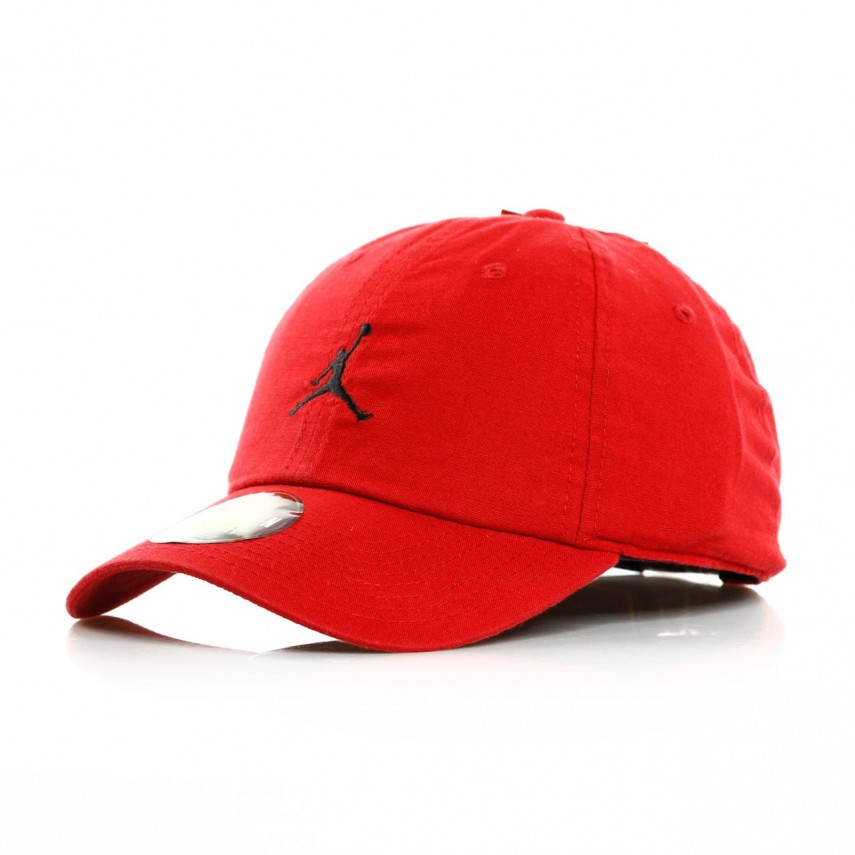 finest selection b3e44 b217a CAPPELLO VISIERA CURVA JORDAN H86 JUMPMAN WASHED RED BLACK   Atipicishop.com