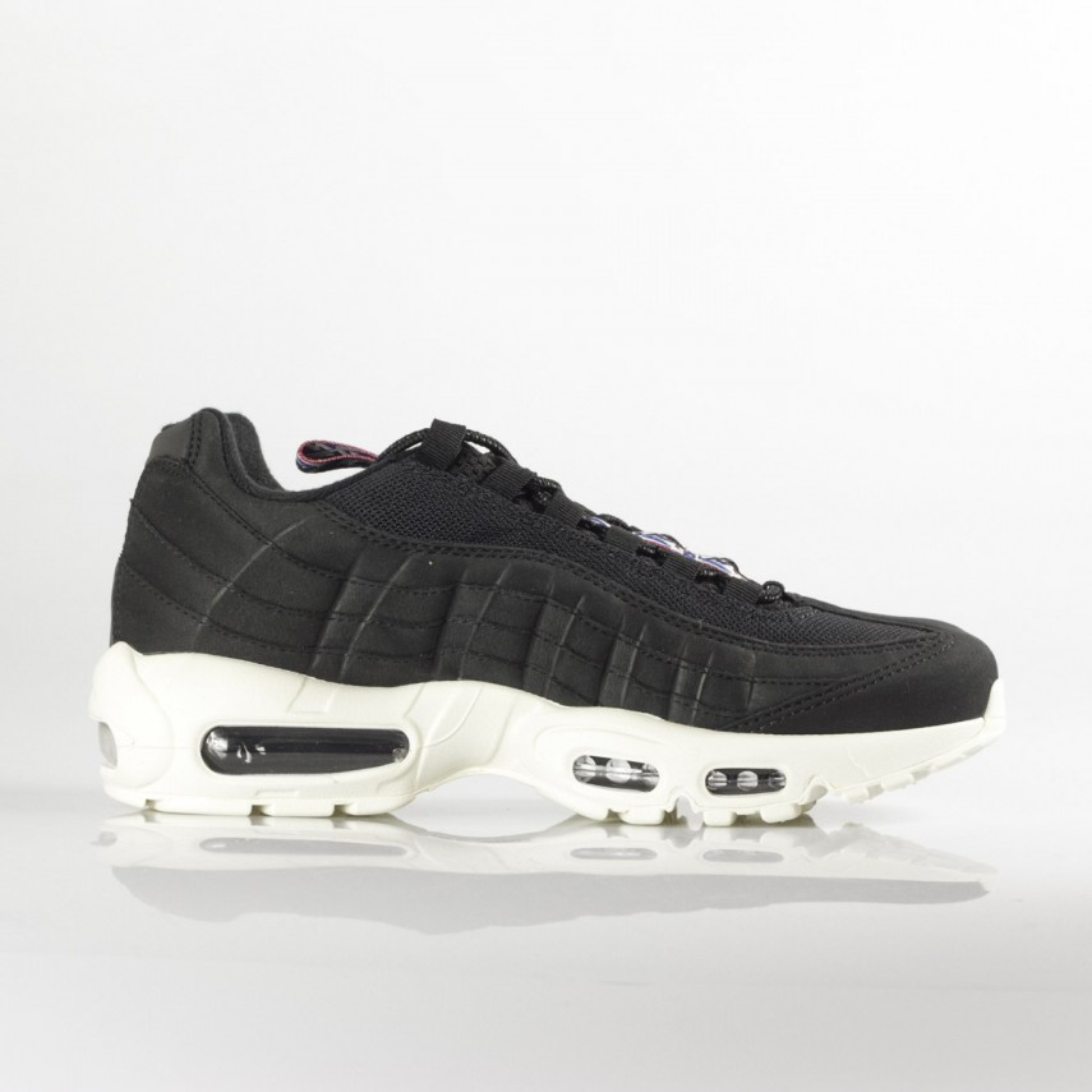 low sneaker man air max 95 tt BLACK/SAIL/GYM RED