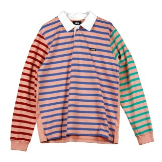 POLO JONAH STRIPE L/S RUGBY stg