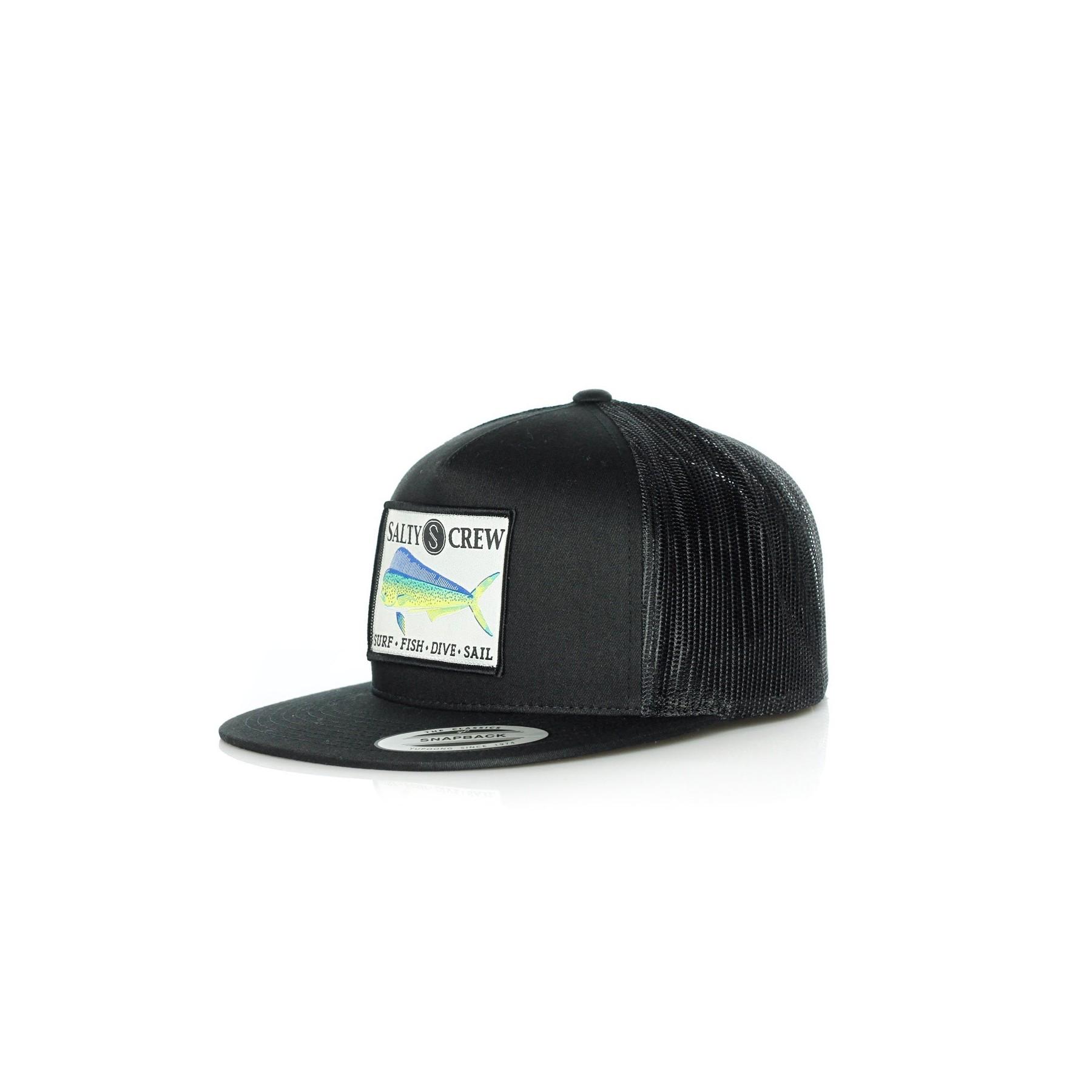 bcc97f037b416 CAPPELLO SNAPBACK MAHI TRUCKER HAT BLACK
