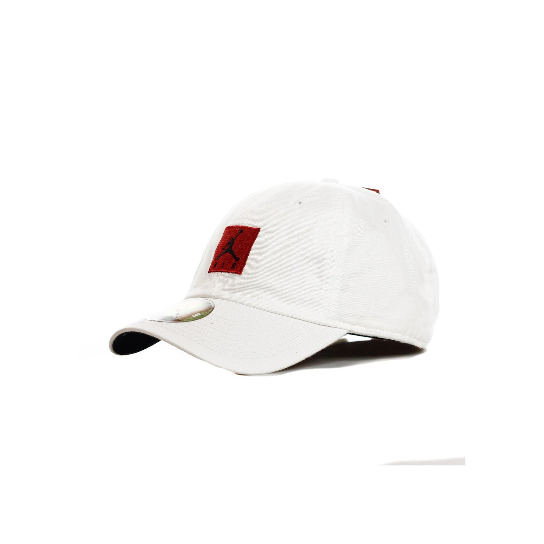 CAPPELLO VISIERA CURVA JORDAN H86 JUMPMAN AIR WHITE BLACK GYM RED ... f927aace5db1