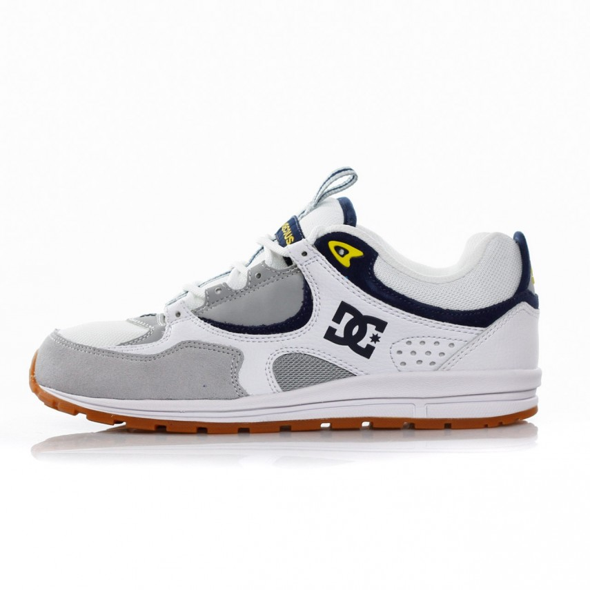 21f018b7332d DC SHOES. SCARPA BASSA KALIS LITE WHITE GREY YELLOW