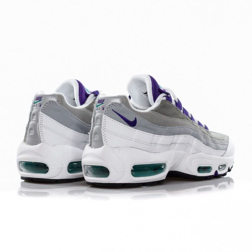 cheap for discount 59650 a821f SCARPA BASSA WMNS AIR MAX 95 WHITE/COURT PURPLE