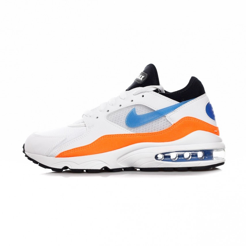 2f4ca6d2417 SCARPA BASSA AIR MAX 93 WHITE BLUE NEBULA TOTAL ORANGE