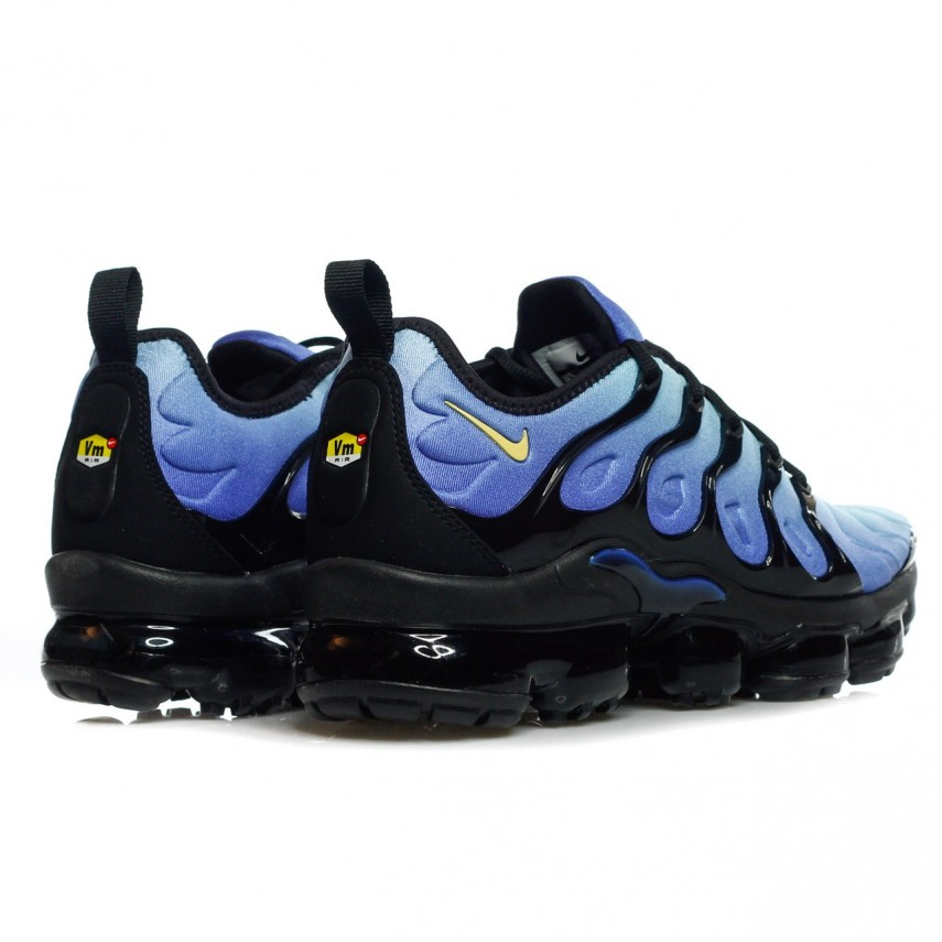 new concept 4b8c8 551cd SCARPA BASSA AIR VAPORMAX PLUS BLACK/CHAMOIS/HYPER BLUE