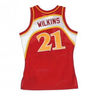 CANOTTA NBA SWINGMAN JERSEY DOMINIQUE WILKINS NO21 1986/87 ROAD ATLHAW 46