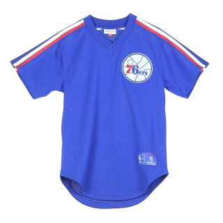CASACCA NBA WINNING TEAM MESH V-NECK PHI76E 46