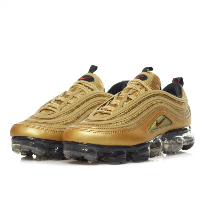 SCARPA BASSA AIR VAPORMAX 97 METALLIC GOLDVARSITY RED