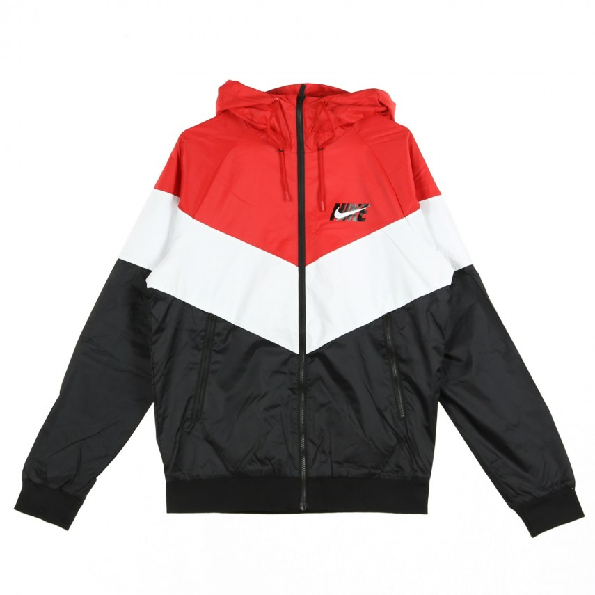WINDBREAKER WR JKT HD GX QS UNIVERSITY RED SUMMIT WHITE BLACK ... 671a280cf