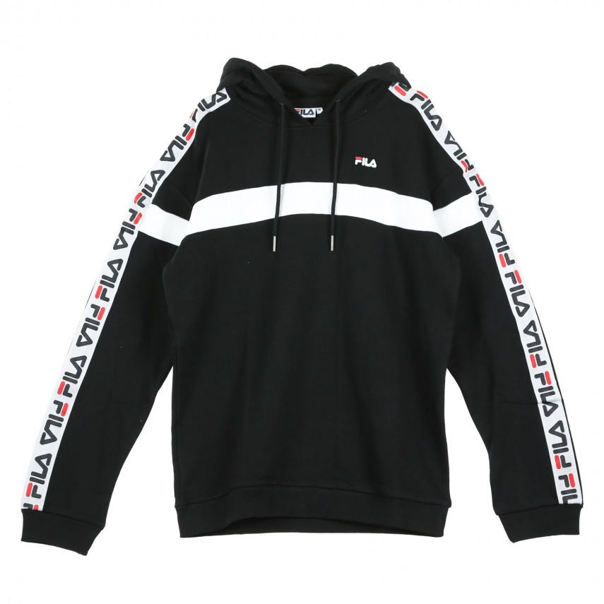 Details about Fila Hoodies Tape Track Jacket Black