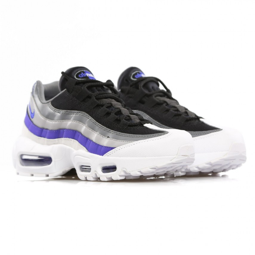plus de photos 79aa3 78d40 SCARPA BASSA AIR MAX 95 ESSENTIAL WHITE/PERSIAN VIOLET/COOL GREY/WOLF GREY