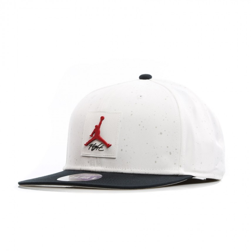 b1437ac45de CAPPELLO SNAPBACK JORDAN PRO AOP WHITE BLACK GYM RED