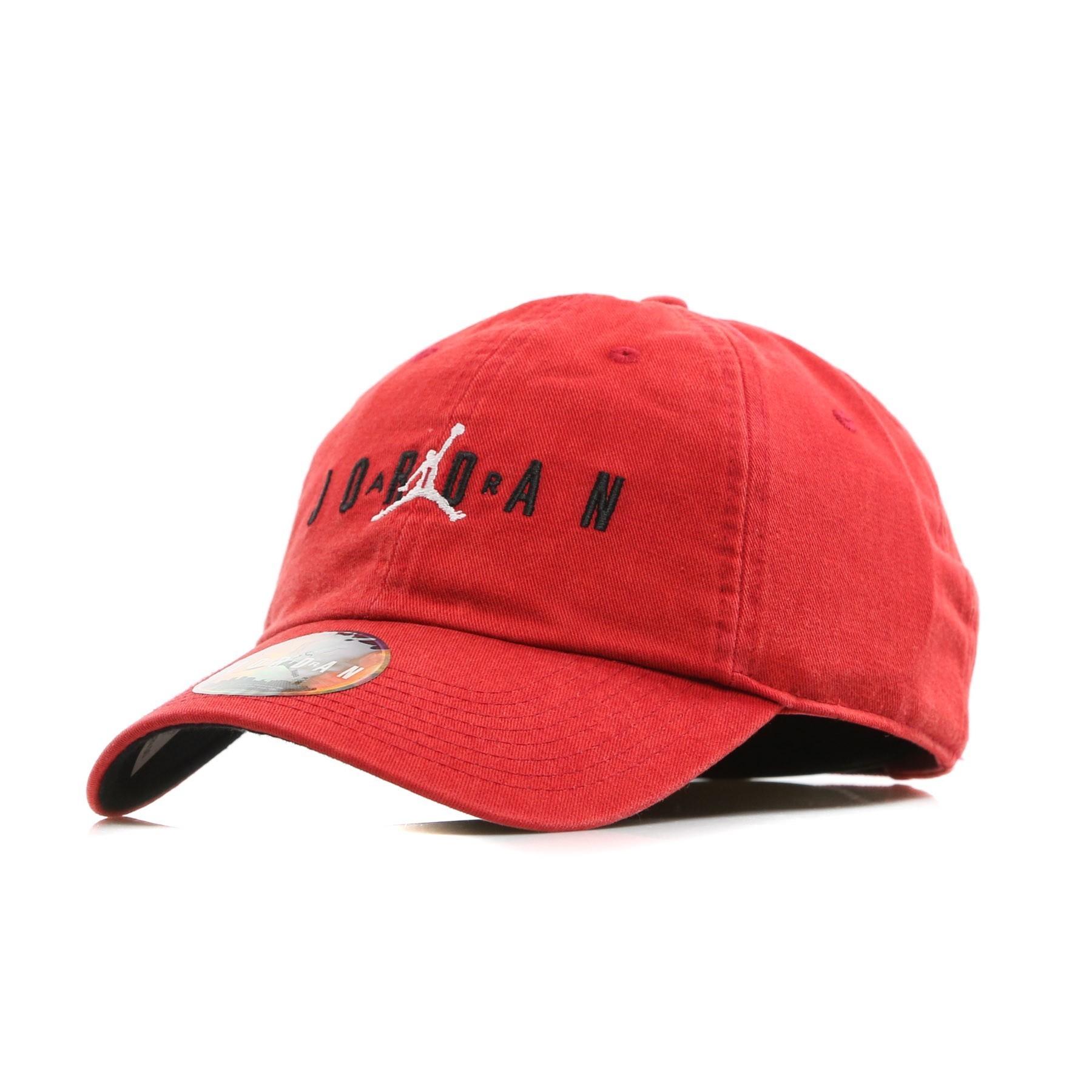 CAPPELLO VISIERA CURVA JORDAN H86 AIR CAP GYM RED BLACK ... 20931e3e29ef
