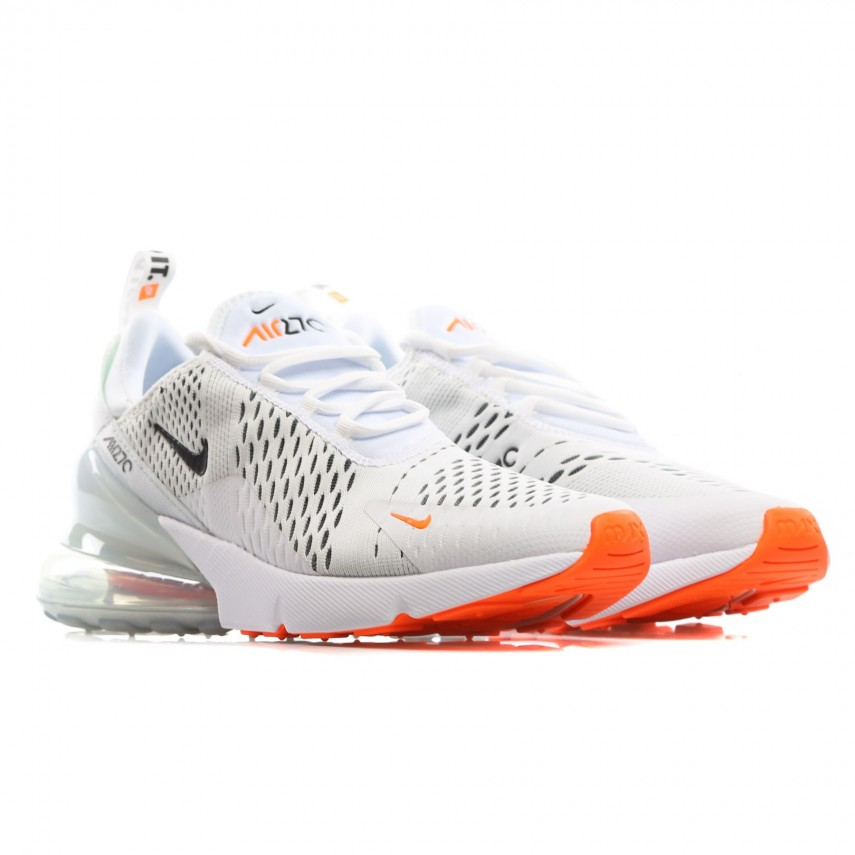 finest selection b4f4f 658ac LOW SHOE AIR MAX 270 WHITE/BLACK/TOTAL ORANGE