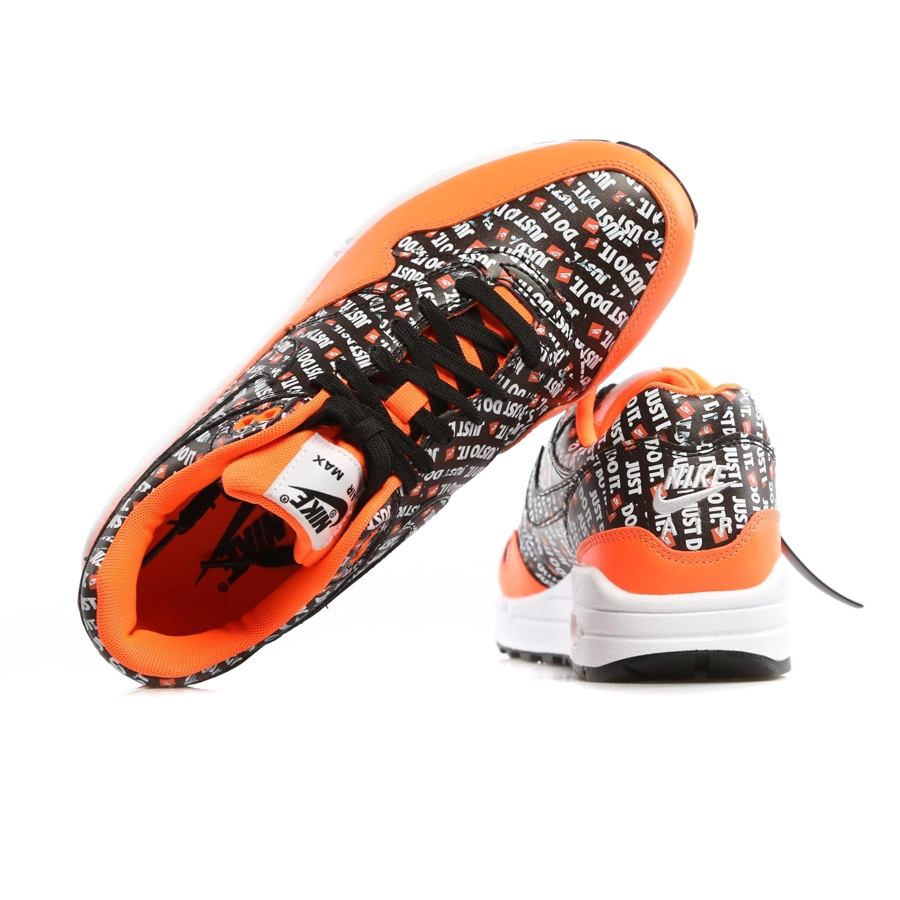 Nike AIR MAX 1 PREMIUM BlackBlackTotal OrangeWhite